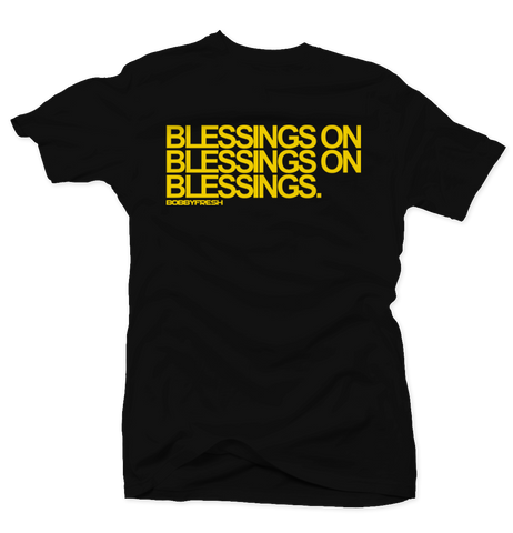 Blessings on Blessings Black/Yellow Tee
