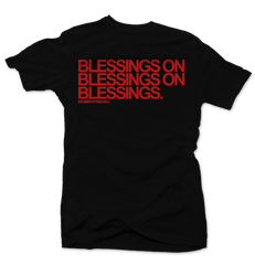 Blessings Blk/Red Tee