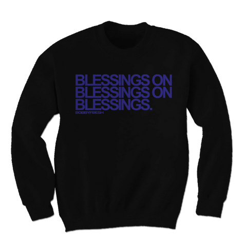 Blessings Space Jam Black Crewneck