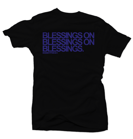 Blessings Space Jam Black Tee