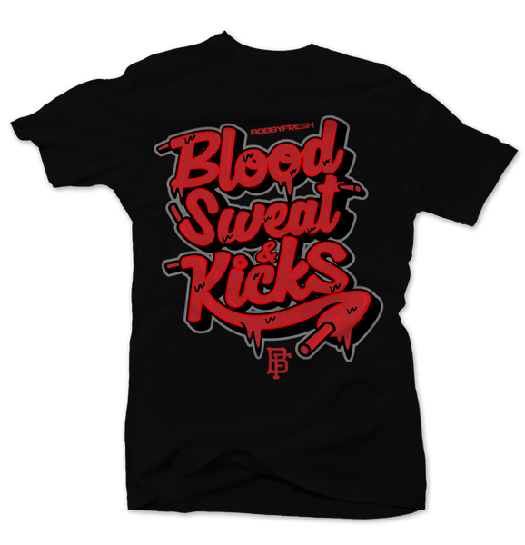 Blood Sweat and Kicks Black Tee