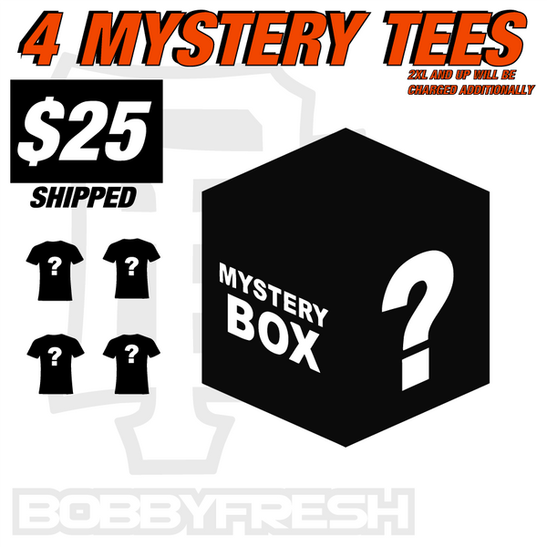 4 Tee Mystery Box Deal $25 Shipped