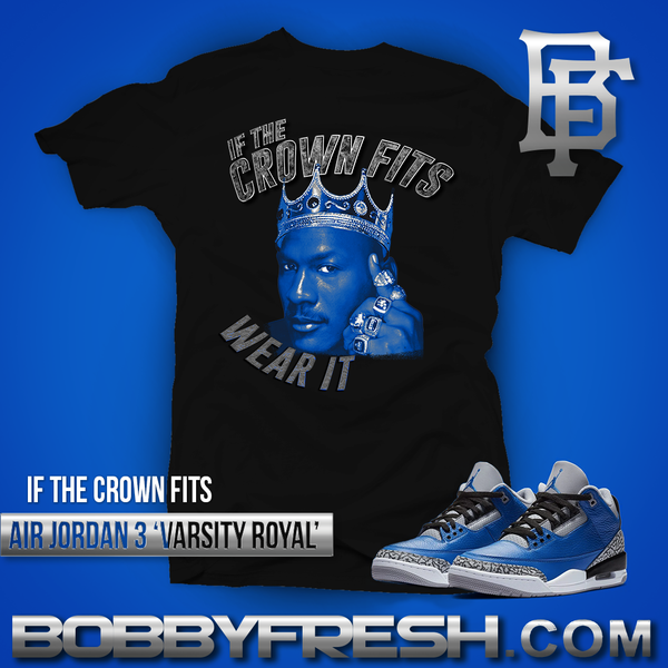 If the Crown Fits Black/Royal Tee