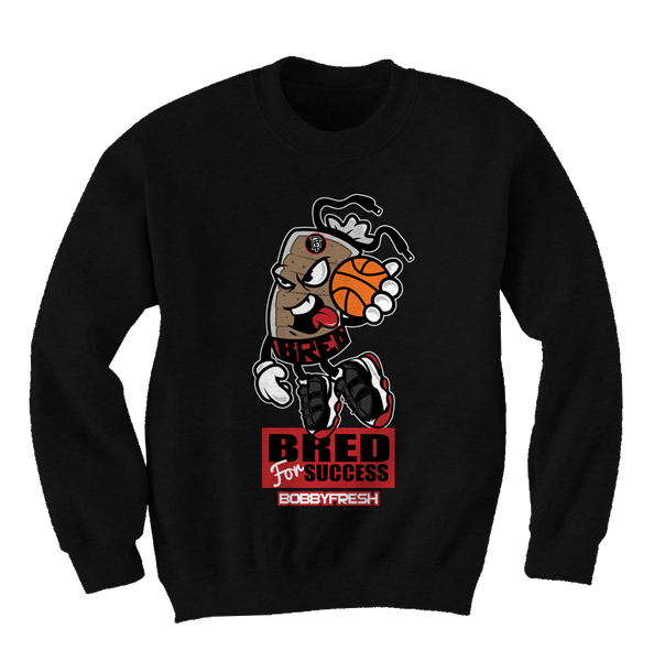 Bred for Success Black Crewneck - Bobby Fresh