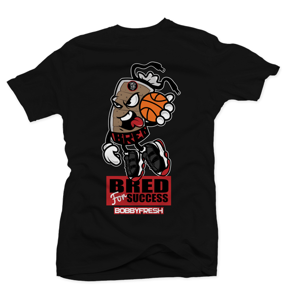 Bred For Success Black Tee