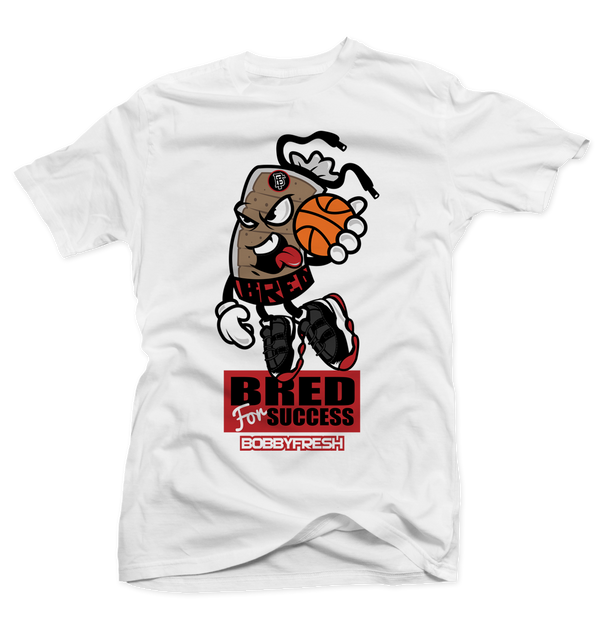 Bred for Success White Tee - Bobby Fresh
