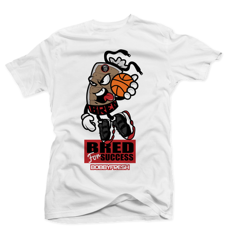 Bred for Success White Tee
