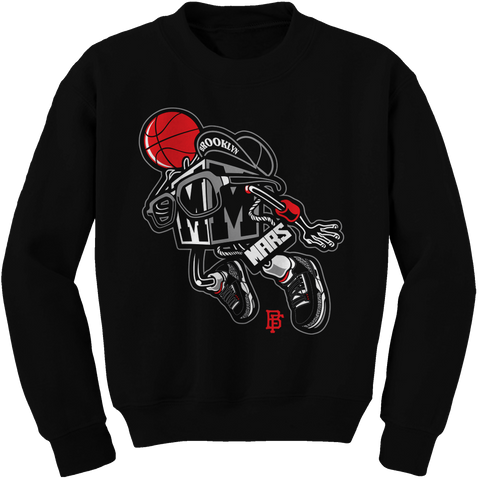 Brooklyn Black Cement Crewneck