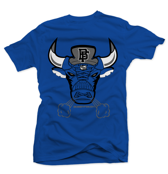 Bulls 5 Royal Tee - Bobby Fresh