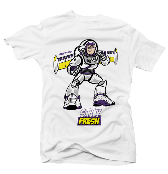 Buzz White Tee - Bobby Fresh