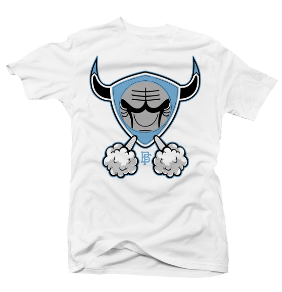 Carolina Bull Unc 3 White Tee - Bobby Fresh