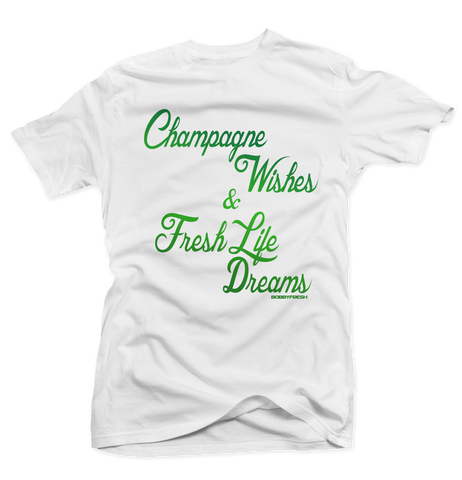 Champagne Wishes White Tee