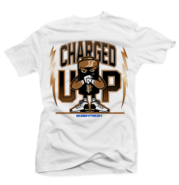 Charged White Tee