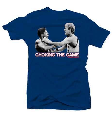 Choking the Game Blue Tee