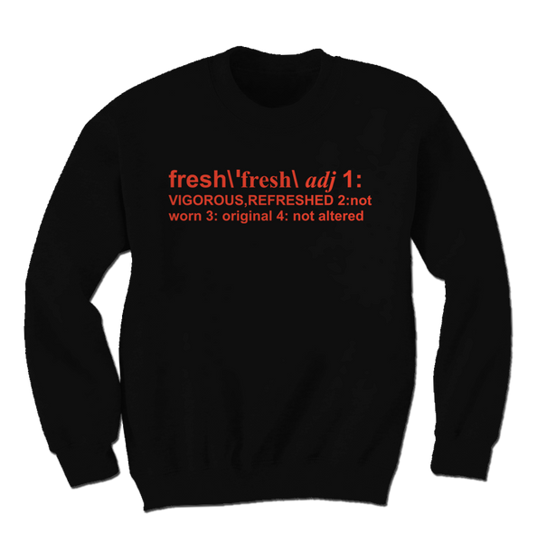 Definition of Fresh Black/Orange Crewneck