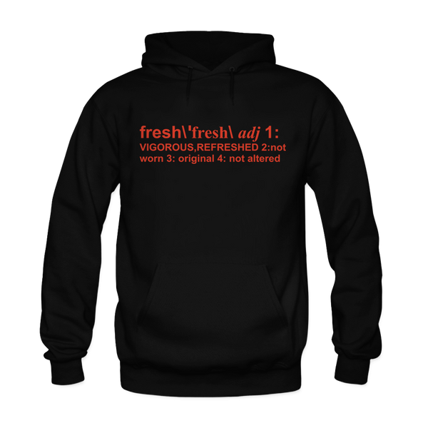 Definition of Fresh Black/Orange Hoodie