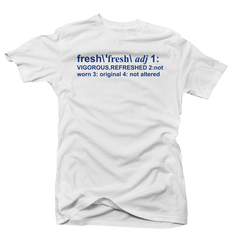 Definition of Fresh Hyper Royal White Tee