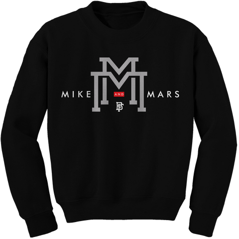 Double M Black (Black Cement) Crewneck
