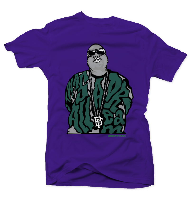 Dream Big Bucks 7s Purple Tee - Bobby Fresh