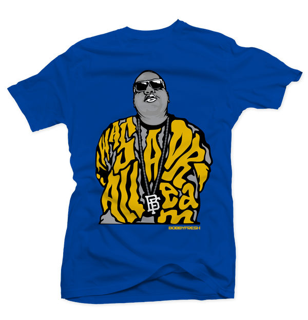 Dream Big Royal Laney Tee - Bobby Fresh