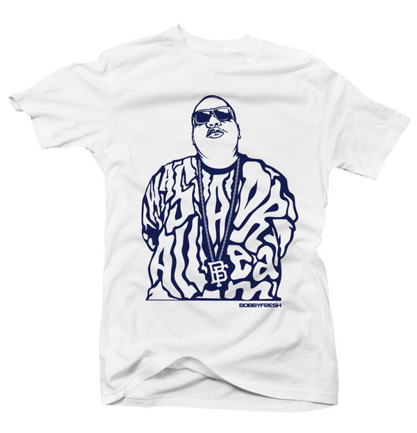 Dream Big UNC 9 White Tee - Bobby Fresh