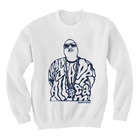 Dream Big White Columbia Crewneck