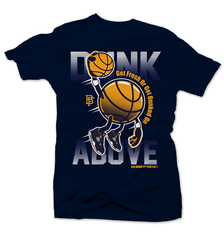 Dunk From Above Blue Tee