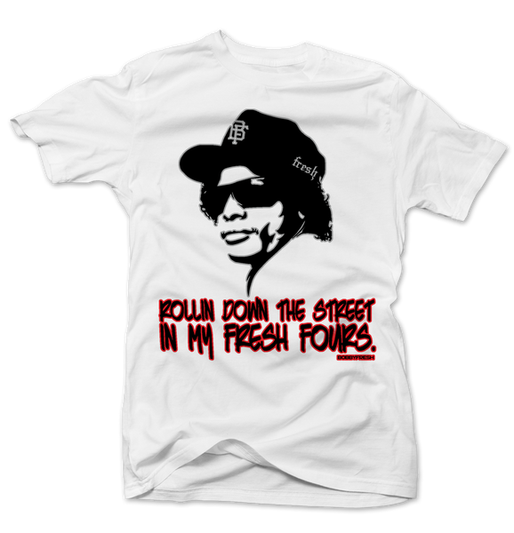 Eazy Rollin Cement 4 White Tee