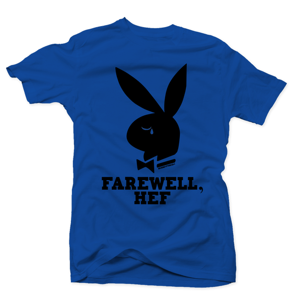 Farewell Hef Royal/Black Tee - Bobby Fresh