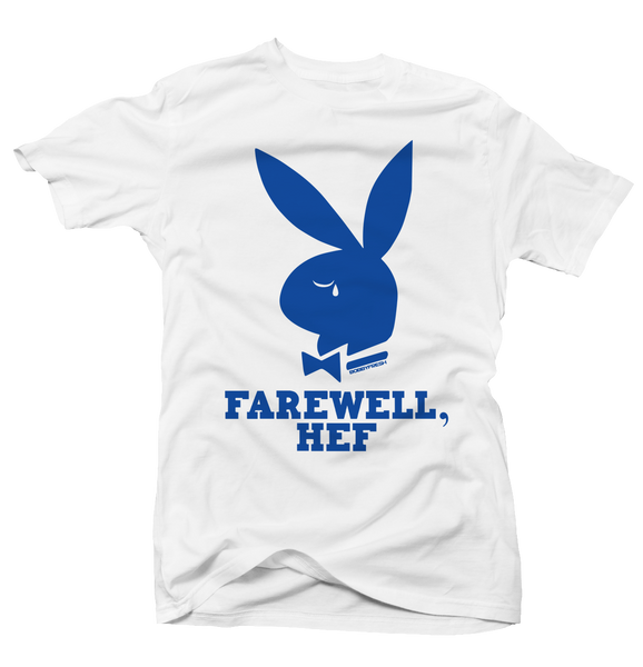 Farewell Hef White/Blue Tee