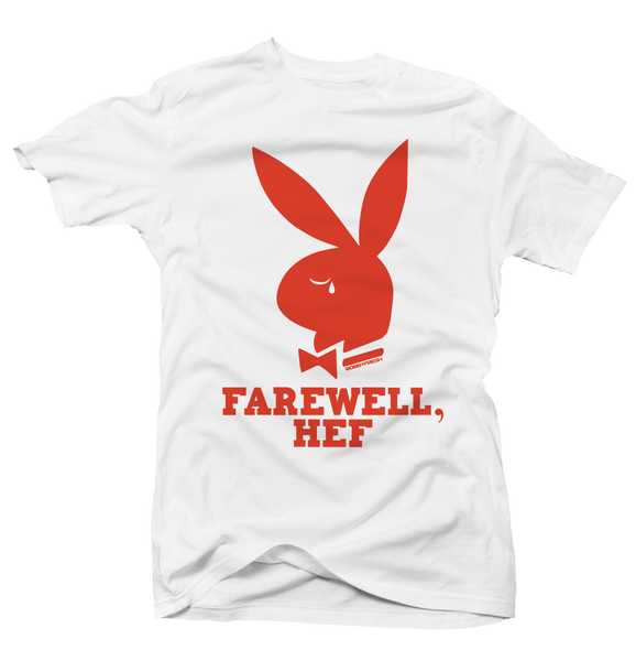 Farewell Hef White/Orange Tee