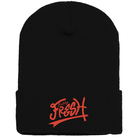 Feeling Fresh Black/Orange Beanie