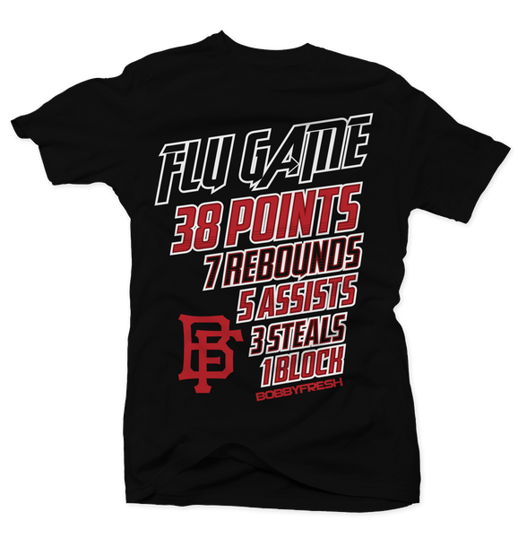 Flu Game Stats Black Tee