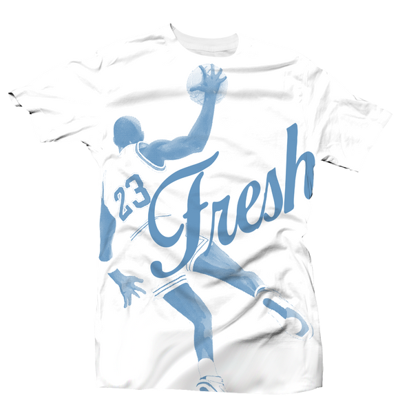 Fresh 23 All Over White UNC Tee