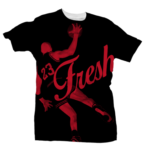 Fresh 23 All Over Black/Red Tee
