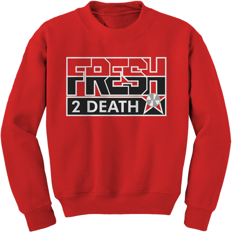 Fresh 2 Death Red (Black Cement) Crewneck