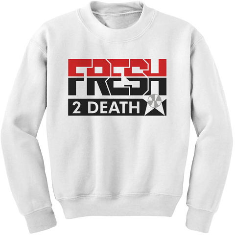 Fresh 2 Death White (Black Cement) Crewneck