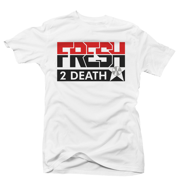 Fresh 2 Death White (Black Cement) Tee