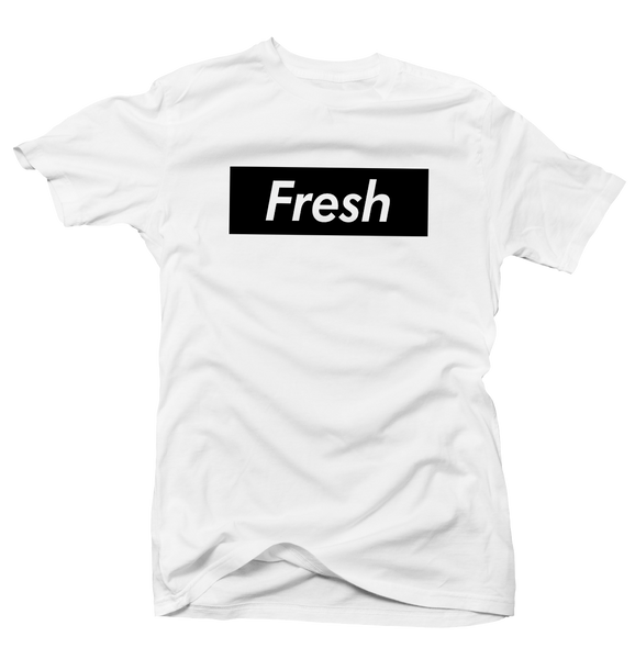 Fresh Box White Tee (Reverse He Got Game)