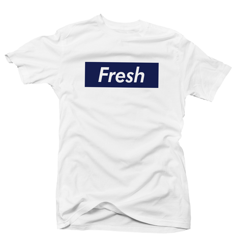 Fresh Box UNC 9 White Tee