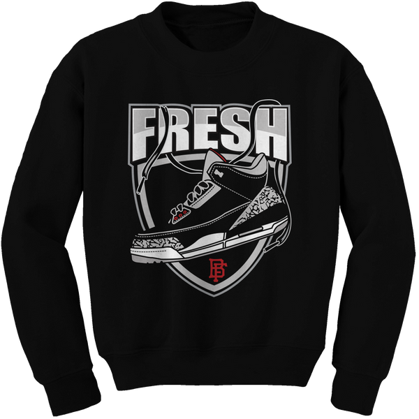 Fresh Cement Black Cement Crewneck