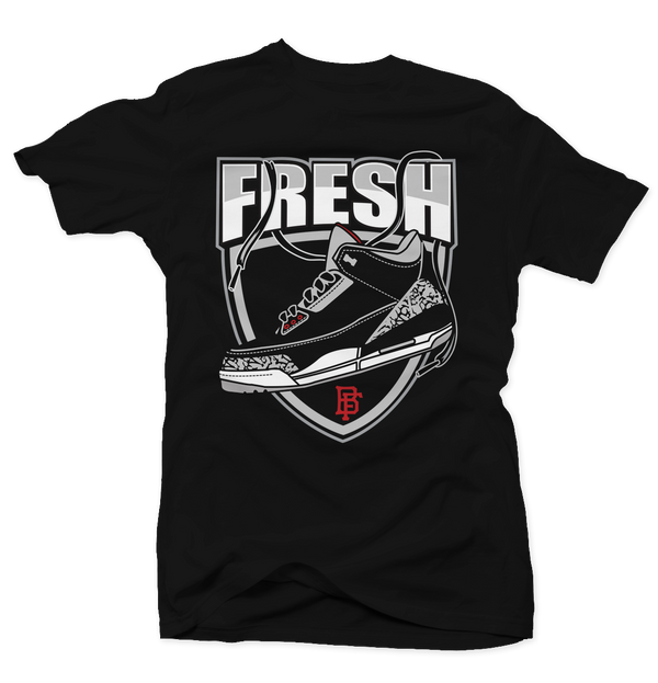 Fresh Cement Black Tee - Bobby Fresh