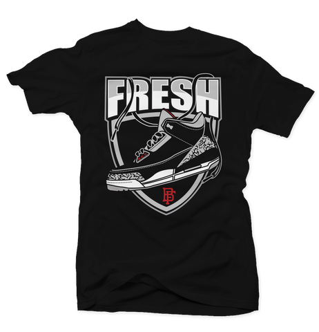 Fresh Cement Black Tee