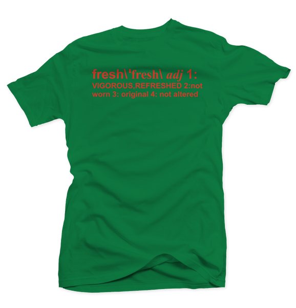 Definition of Fresh Green/Orange Tee