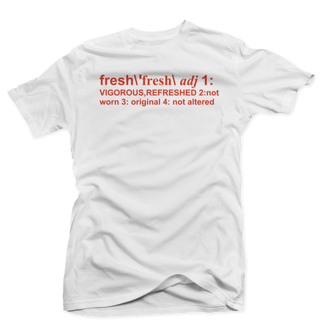 Definition of Fresh White/Orange Tee