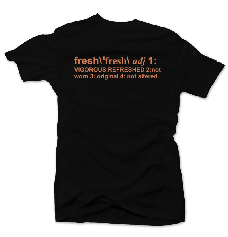 Definition of Fresh Clay 350's Black Tee - Bobby Fresh
