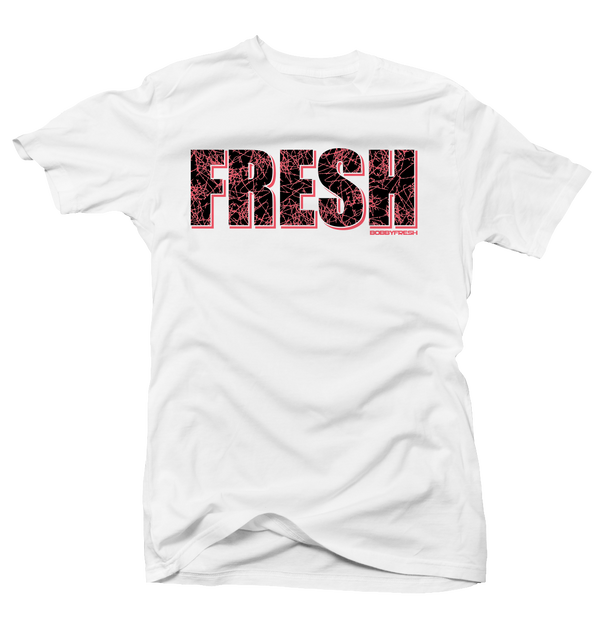 Fresh Lava Bright Crimson White Tee - Bobby Fresh