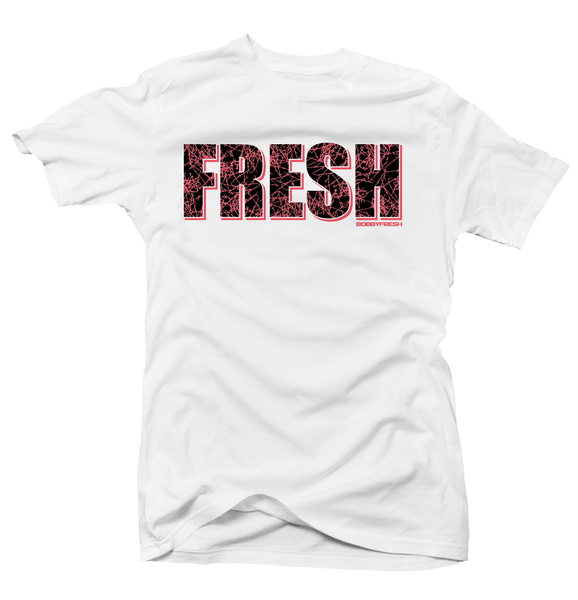 Fresh Lava Bright Crimson White Tee