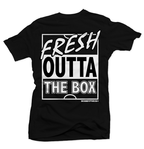 Fresh Outta The Box Black Tee