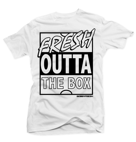 Fresh Outta The Box White Tee